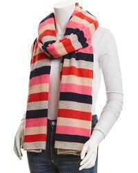White + Warren Cashmere Wrap Scarf - Red