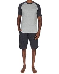 Unsimply Stitched 2pc T-shirt & Short Set - Grey