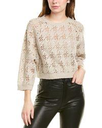 Brunello Cucinelli Open-knit Cashmere & Wool-blend Jumper - Natural