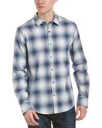 Vince Shadow Woven Shirt - Blue