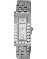 20ea1432ea53 House of Fraser · Swarovski - Women s Lovely Crystals Square White Watch -  Lyst