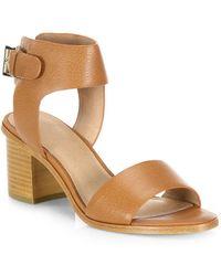 Joie Bea Leather Mid-heel Sandals - Black
