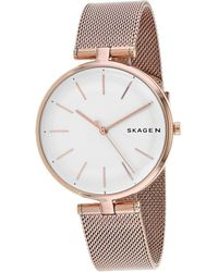 Skagen Women's T-bar Watch - Metallic