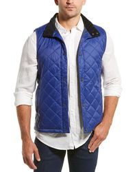 Barbour Cagney Quilted Vest - Blue
