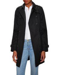 Burberry Sandringham Medium-length Heritage Trench Coat - Black