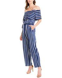Marella Linen-blend Jumpsuit - Blue