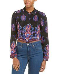 Nanette Lepore Hard To Thrill Silk Shirt - Black