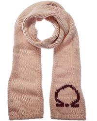 Ferragamo Sr Follie Braided Wool Scarf - Pink
