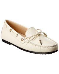 Tod's Gommino Leather Loafer - White