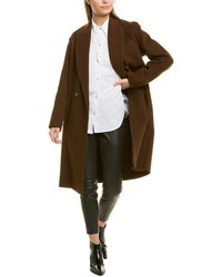 Vince - Double-breasted Oversized Wool-blend Coat - Lyst