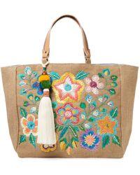 Star Mela Flori Embroidered Tote - Multicolour