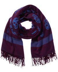 Alexander McQueen Wool & Cashmere-blend Scarf - Purple
