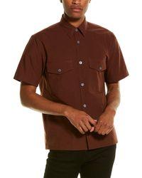 Theory Weldon Woven Shirt - Brown