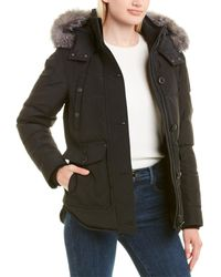 Moose Knuckles Quilted Puffer Coat - Black