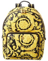 Versace Baroque Leather Backpack - Black