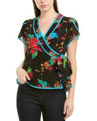 Nanette Lepore Silk Top - Black