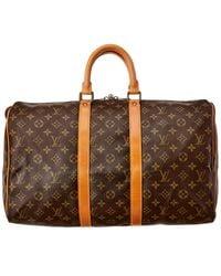 Louis Vuitton Monogram Canvas Keepall 45 - Brown