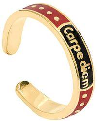 Gabi Rielle 22k Over Silver Enamel Ring - Metallic