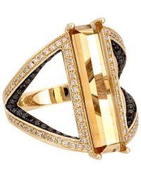 Diana M. Jewels - . Fine Jewellery 14k 4.16 Ct. Tw. Diamond & Citrine Ring - Lyst