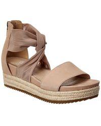 Eileen Fisher Zoe Leather Platform Sandal - Brown