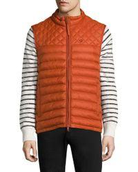 Strellson Quilted Zip-front Puffer Vest - Orange