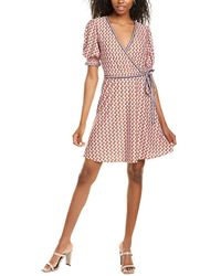 Max Studio Wrap-look A-line Dress - Red
