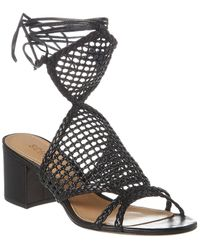 Schutz Palinda Leather Sandal - Black