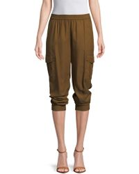 BCBGMAXAZRIA Cian Buttoned Pants - Brown