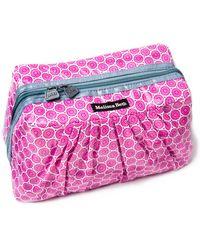 Melissa Beth Grey Pretty Pleats Cosmetic Case - Pink