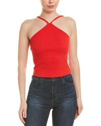 Honey Punch Ribbed Top - Red