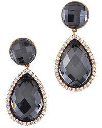 Roberto Coin - 18k Two-tone 0.55 Ct. Tw. Diamond & Quartz Drop Earrings - Lyst