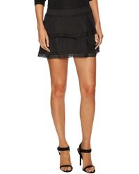 The Letter - Tiered Lace Trim Mini Skirt - Lyst