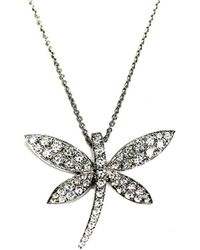 Arthur Marder Fine Jewelry 18k Diamond Dragonfly Necklace - Metallic