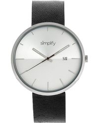 Simplify The 6400 Quartz Silver Dial Watch - Metallic