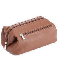 Royce Leather Toiletry Bag - Brown