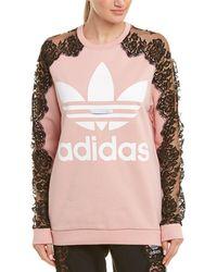 Stella McCartney Adidas 3-stripe Lace Sweatshirt - Pink
