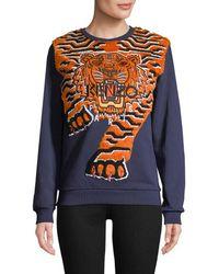 KENZO Graphic Embroidery Sweatshirt - Blue