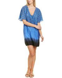 St. Roche Holly Printed Silk Mini Dress - Blue