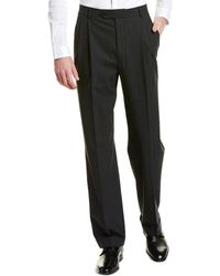 Brooks Brothers Madison Fit Pleated Wool Blend Trouser - Gray