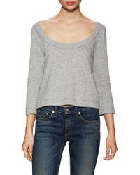 Plenty by Tracy Reese Lace Up Back Sweatshirt - Gray