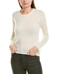 James Perse Gauze Cashmere & Silk-blend Sweater - White