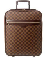 Louis Vuitton Damier Ebene Canvas Pegase 45 - Brown