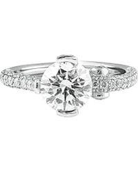 Diana M. Jewels . Fine Jewelry Platinum 2.85 Ct. Tw. Diamond Ring - Metallic