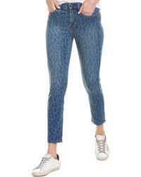 Jen7 Indigo Leopard Ankle Skinny Jean - Blue