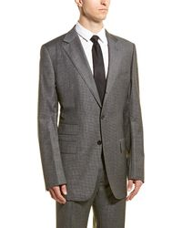 Tom Ford Wool Suit With Flat Front Pant - Gray