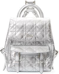 Dior - Metallic Leather Backpack - Lyst