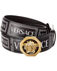 Versace Medusa Leather Belt - Black