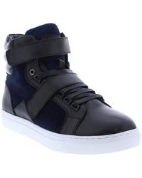 French Connection Orsay Leather & Suede Hi Top Trainer - Black