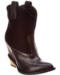 Giuseppe Zanotti - Velvet & Leather Boot - Lyst