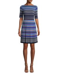 Maggy London - Boatneck Fit-&-flare Dress - Lyst